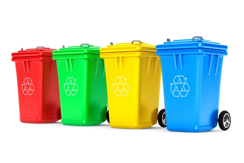 trade waste recycling bins